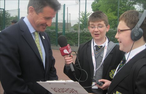 School Reporters interviewing Lord Coe