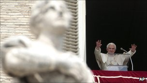 Pope Benedict XVI at the Vatican on 15 May 2011