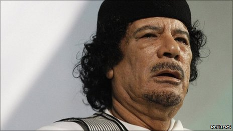 Muammar Gaddafi (file image from 30 August 2010)