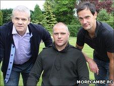 Ken McKenna (l), Jim Bentley (c), Stewart Drummond (r)