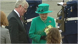 First pictures of the Queen's arrival in Ireland