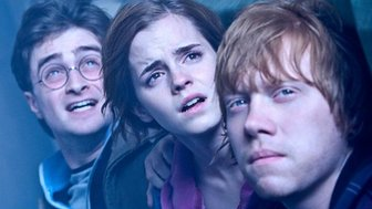 Daniel Radcliffe, Rupert Grint and Emma Watson as Harry Potter, Ron Weasley and Hermione Granger in Harry Potter and the Deathly Hallows