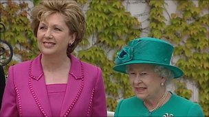 Queen Elizabeth II and Irish President Mary McAleese