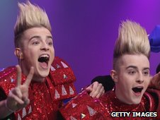 Jedward wait for the Eurovision results