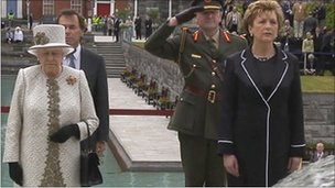 Queen Elizabeth II with Irish President Mary McAleese