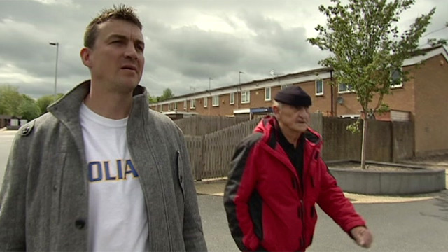 Richie Woodhall and his father Len