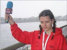 School Reporter Beth from Oasis Academy MediaCityUK.