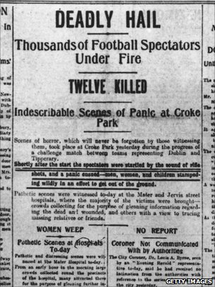 The Dublin Evening Standard reacts to the killings on Bloody Sunday