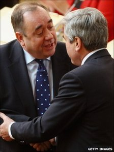Alex Salmond and Iain Gray