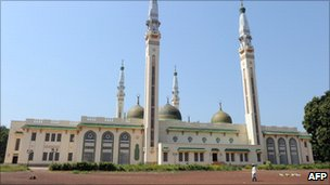 A mosque in Guinea's capital, Conarky