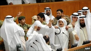 Fight between Kuwaiti MPs