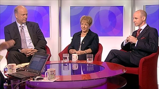 Chris Grayling, Margaret Hodge and Daniel Hannan