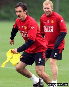 Gary Neville and Paul Scholes