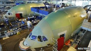 Airbus A380s under construction