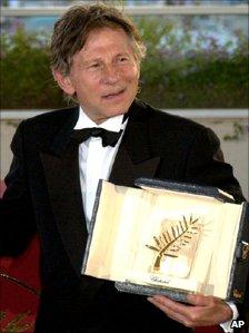 Roman Polanski at Cannes in 2002