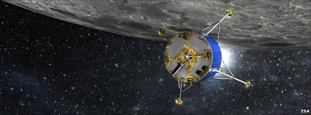 Esa lunar lander artist's impression