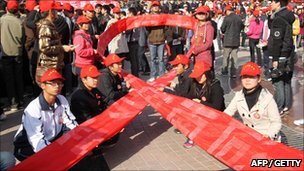 HIV activists in China