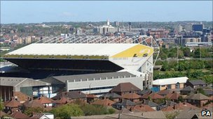 Elland Road and the surrounding area