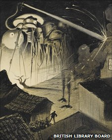 The Martians from H G Wells's The War of the Worlds; as depicted by Alvim-Correa