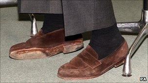 Ken Clarke's shoes