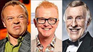 Graham Norton, Chris Evans and Bruce Forsyth