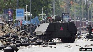 19 May 2011 Bangkok army crackdown on red-shirt protests