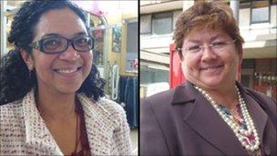 Irice Godoi(left), Martha Guerra (right)