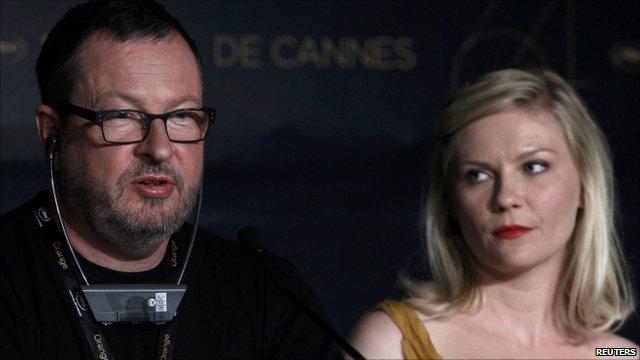 Lars Von Trier and Kirsten Dunst