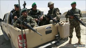 Afghan National Army troops
