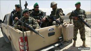 Afghan National Army troops