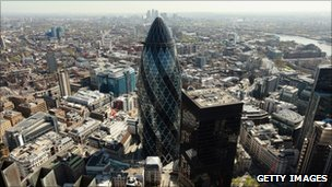Gherkin glass tower in London
