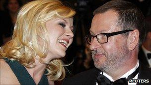 Lars Von Trier with Kristen Dunst