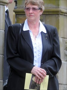 Denise Griffith at the funeral
