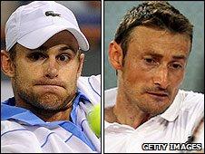 Andy Roddick and Juan Carlos Ferrero
