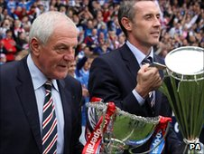 Rangers manager Walter Smith and defender David Weir