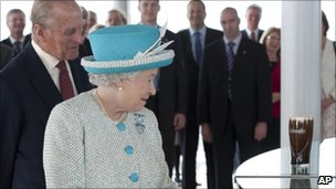 Queen Elizabeth at the Guinness Storehouse in Dublin on Wednesday 18 May 2011