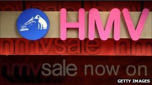 HMV sale sign