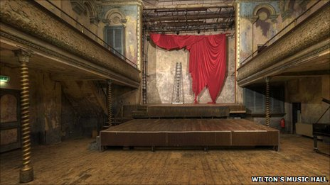 Inside Wilton's Music Hall