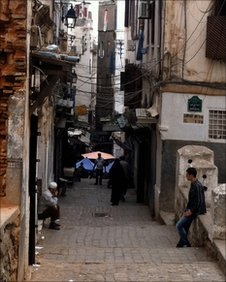 The Casbah (old city) in Algiers