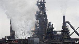 Steelworks in Scunthorpe