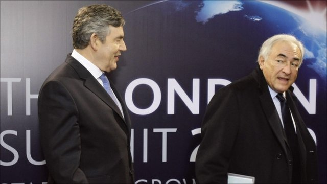 Gordon Brown and Dominique Strauss-Kahn