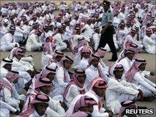 Saudi men at cultural festival