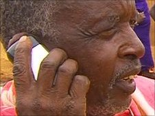 Masai herdsman on the phone