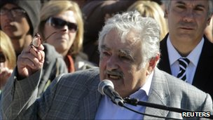 Jose Mujica speaking on 18 May 2011