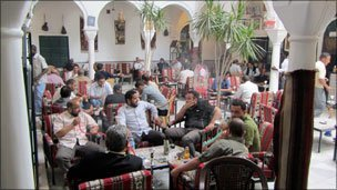 A cafe in Tripoli
