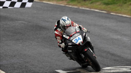 Alastair Seeley takes the Supersport race at the NW200