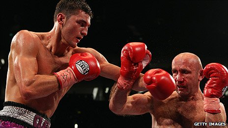 Nathan Cleverly and Aleksy Kuziemski
