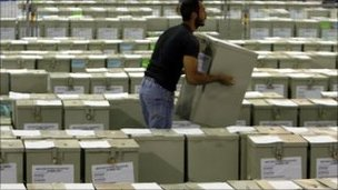 Ballot boxes in Nicosia
