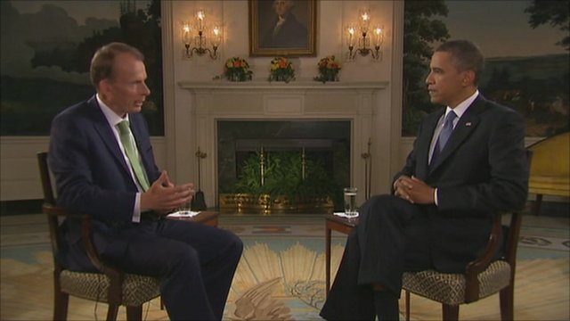 Barack Obama and Andrew Marr