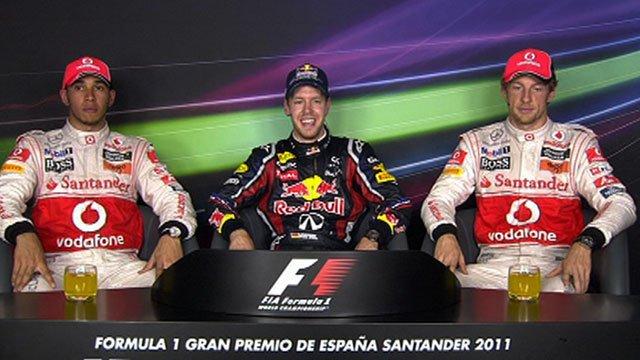 Lewis Hamilton, Sebastian Vettel, Jenson Button